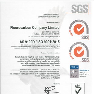 FCL Multisite AS9100D ISO9001:2015