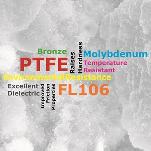 FL106 - Bronze and Molybdenum Disulphide Filled PTFE